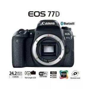 Camera canon eos 77d corpo com nota fiscal
