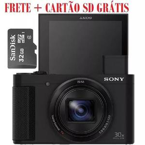Camera sony dsc-hx80 + cartão sd 32gb - oferta