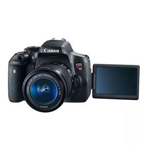 Câmera profissional canon eos rebel t6i 32gb lente 18-55