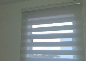 Cortinas persianas rolo dupla rainbow, branca