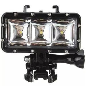 Iluminador luz led gopro mergulho flash sj4000 prova da