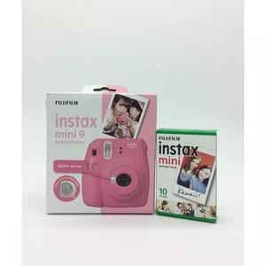 Kit instax mini 9 rosa flamingo + filme 10 fotos