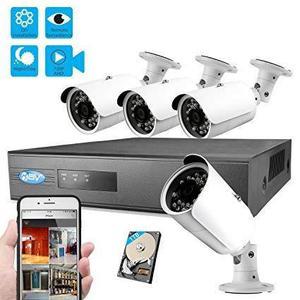 Nvr + 4 cameras ip 1.3mp wi-fi (sem fio), com instalação e