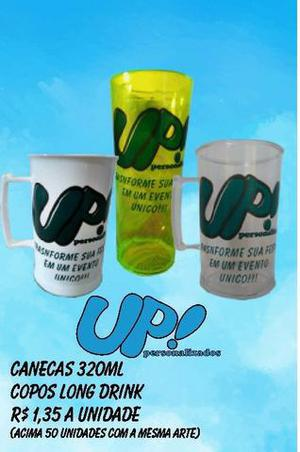 R$ 1,35 canecas e copos long drink, canecas de porcelana,