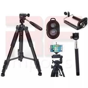 Tripé universal fotográfico canon nikon 1,50 mt + kit