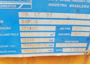 Carreta prancha randon ano 20112011 com pneus carreta