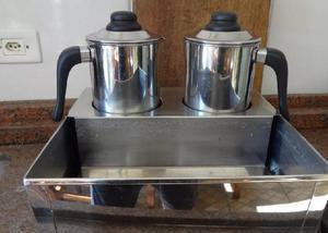 Esterilizador banho maria para 2 bules leite café, 220v