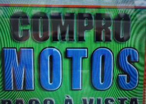 Compro motos honda (somente inteiras) pago a vista