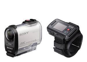 Camera de ação sony fdr-x1000vr w 4k e kit remoto liveview