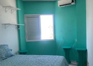 Apartamento 1 quarto (suite) frente mar mongaguá sp