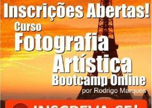 Curso de fotografia artística - bootcamp online