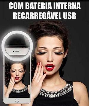 Luz flash para celular selfie ring light com bateria