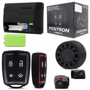 Alarme positron cyber tx 12/24v carro caminhão + bateria