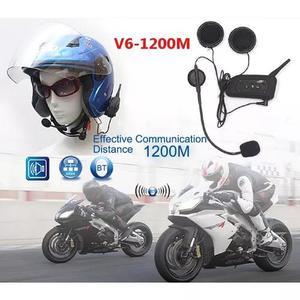 Intercomunicador bluetooth moto v6 1200 capacete mp3 1.2 km