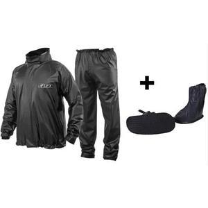 Kit capa chuva delta + polaina piraval pvc moto motoqueiro *
