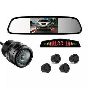 Kit sensor estacionamento câmera ré espelho retrovisor