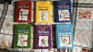 """Livros da série """"diário de um banana"""", volumes 1 a 6"""