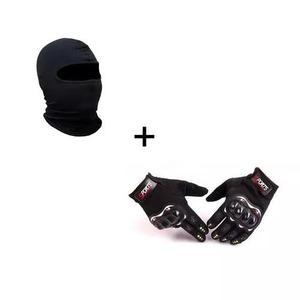 Luva frio intenso moto motoqueiro bike+touca ninja balaclava