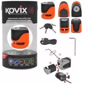 Trava moto disco com alarme kovix ks6 recarregavel usb