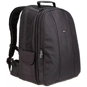 Amazonbasics dslr e laptop mochila - laranja interior