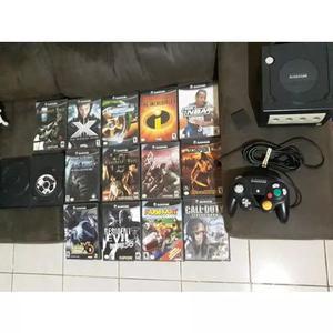 Console gamecube completo com 14 jogos originais