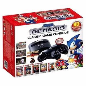 Console sega genesis mega drive classic 80 jogos