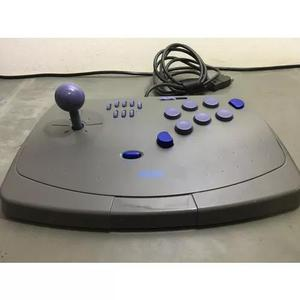 Controle arcade sega saturn funcionando perfeitamente