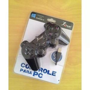 Controle joystick usb jogos pc ps3 game gamepad knup windows