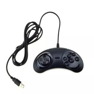 Controle mega drive genesis usb para pc sega plug and play
