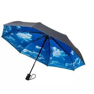 Crown coast estanho cinza com céu guarda-chuva de viag