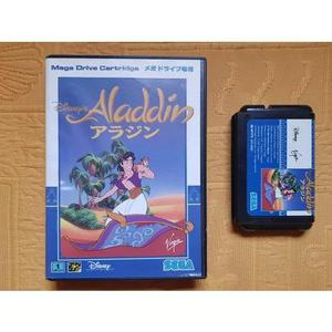 Disney aladdin sega mega drive original japonês completo