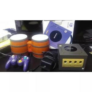 Game cube completo com caixa e bongo tudo original