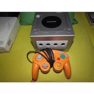 Game cube - console americano - controle laranja - 01 jogo
