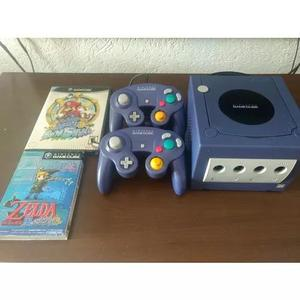Game cube japonês, completo,2 controles,2 jogos