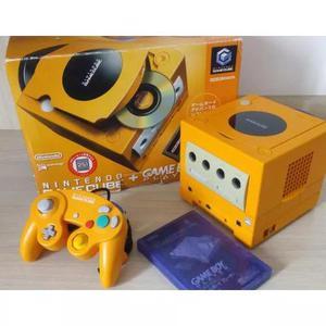 Game Cube Laranja + Game Boy Player Na Caixa
