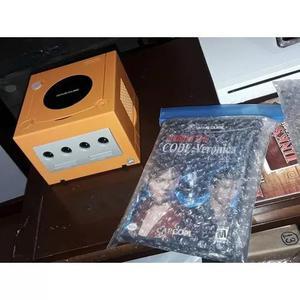 Gamecube laranja + re4 e veronica + controle branco original