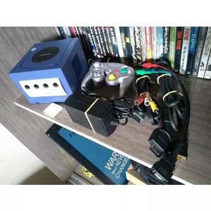 Gamecube original + cabo video componente + 01 jogo(re4)