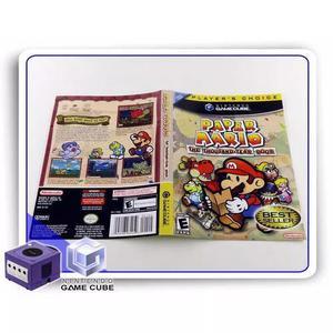 Gc encarte paper mario players choice original gamecube