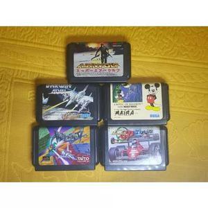 Lote de jogos sega mega drive japonês
