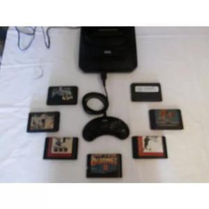 Mega drive 3 com 1 controle original + 7 jogos..
