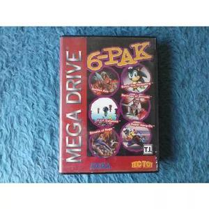 Mega drive - 6-pak - nacional tectoy original + caixa