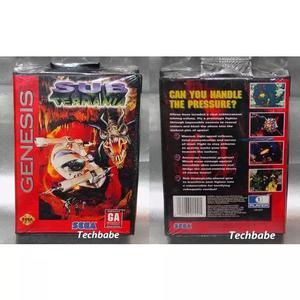 Mega drive jogo cartucho original lacrado sub terrania