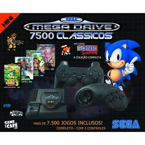 Mini mega drive retro 7500 jogos 2 controles - frete grátis