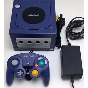 Nintendo game cube azul completo com controle original