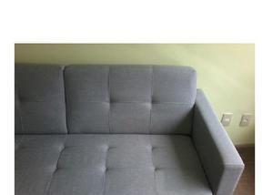 Oportunidade-sofá semi novo 3 lugares