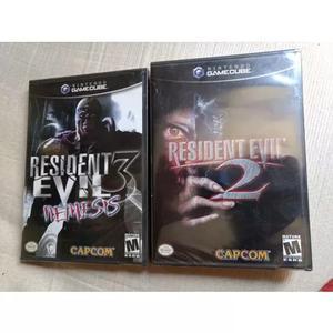 Resident evil 2 e 3 lacrados game cube, novos