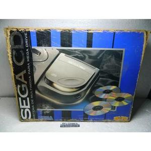 Sega cd na caixa com manual e acessórios - loja centro rj