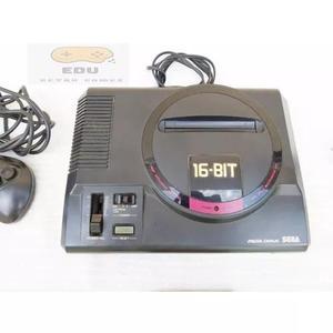 Sega mega drive japonês 16 bits usado controle+fonte+jogo