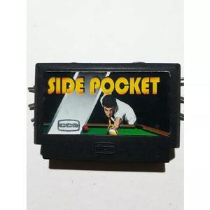 Side pocket original cce turbo game e top game nes (raro)