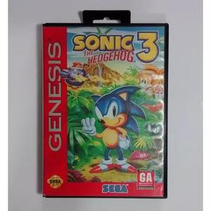 Sonic 3 the hedgehog americano completo sega mega drive fita